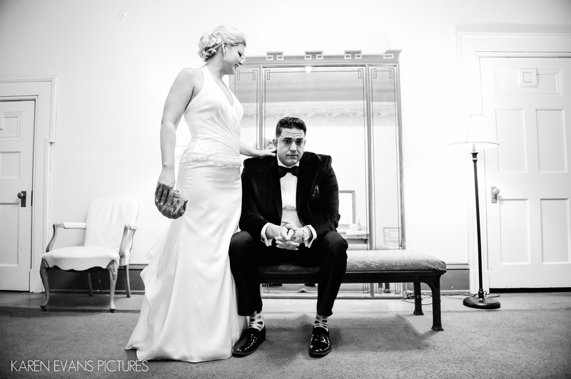 Bride and Groom Portrait at The Columbus Athenaeum