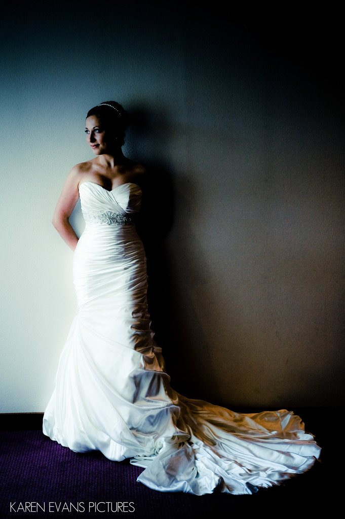 Bridal Portrait at St Joan of Arc in Powell