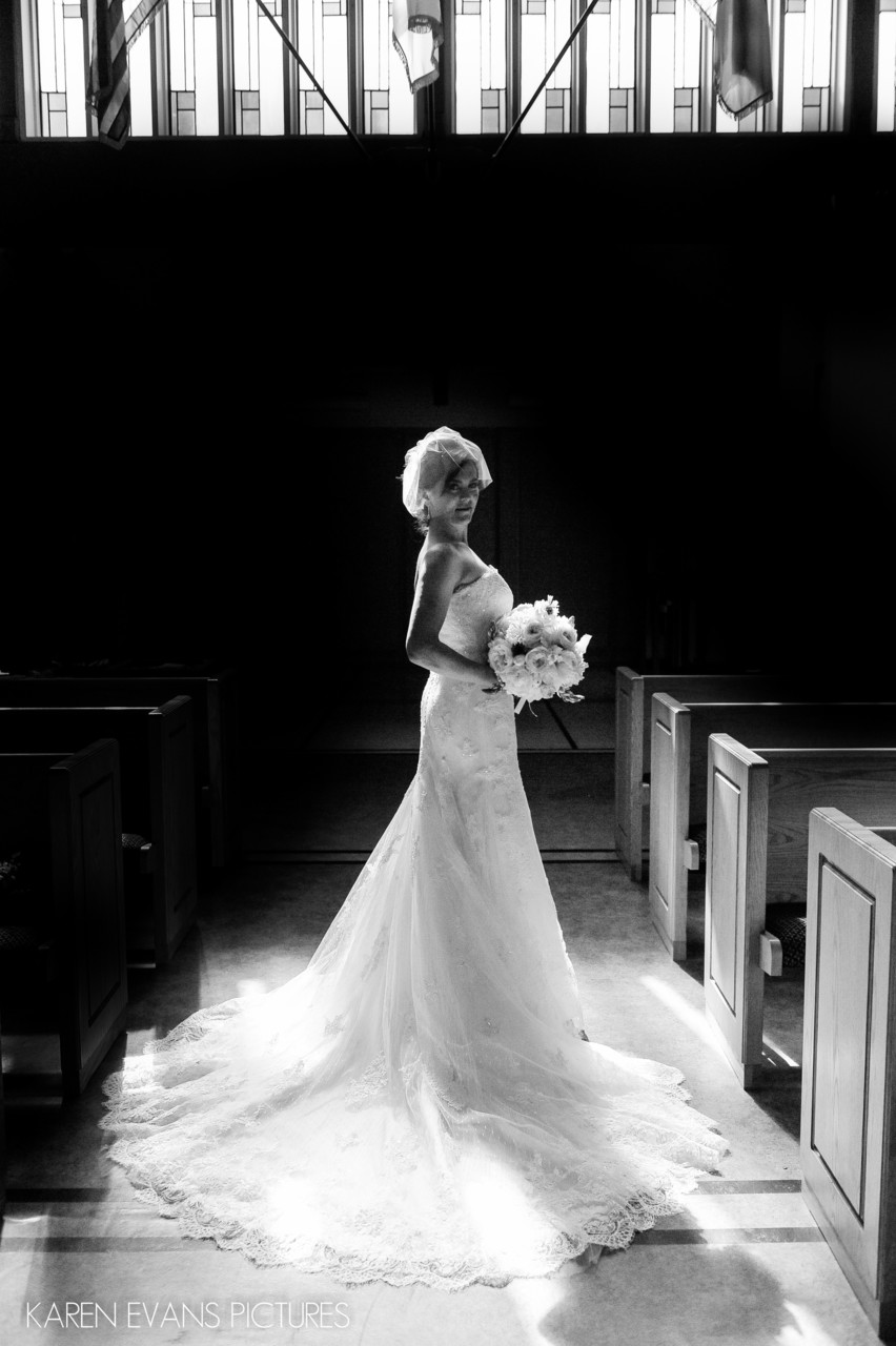 Bridal Portrait at St. Mark's Episcopal Upper Arlington