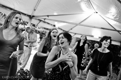 Dancing in a Tent at Outdoor Wedding Lancaster Ohio