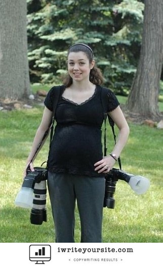 Wedding Photographer 8 months pregnant