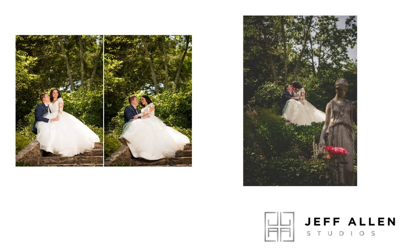 Wedding Album Spread - Brookmill Farm - Garden Portraits