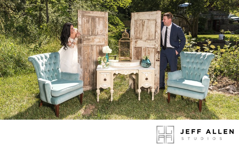 Wedding Album Spread - Brookmill Farm - Rustic Doors
