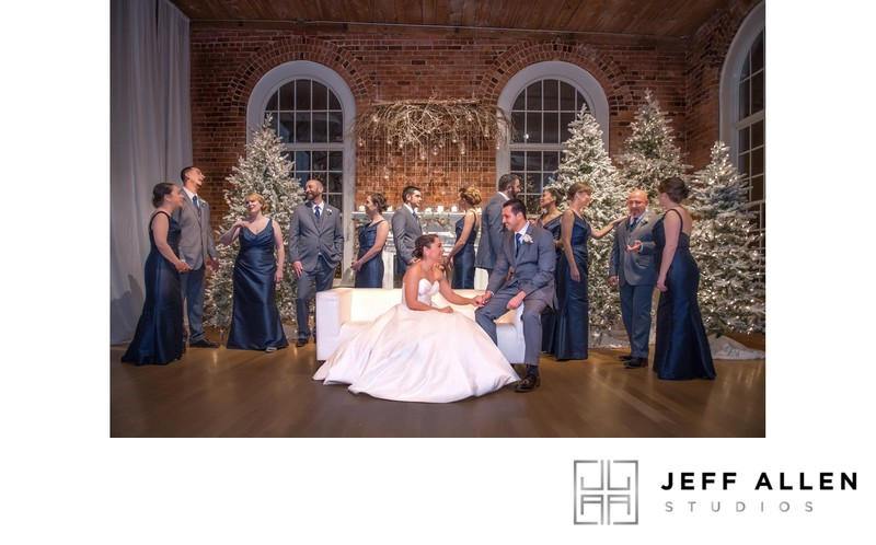 Vanity Fair Style Bridal Party Portrait at Cotton Room