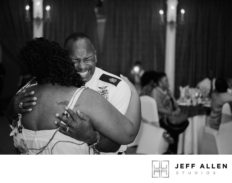 Emotional Candid Moment of Bride and Dad Dancing