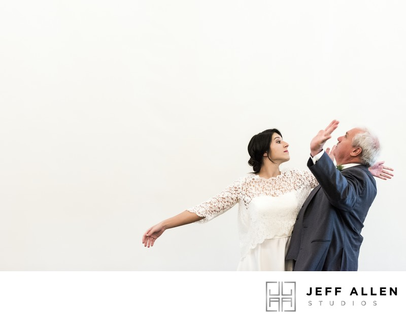 Bride and Her Father Having Fun During Their Dance