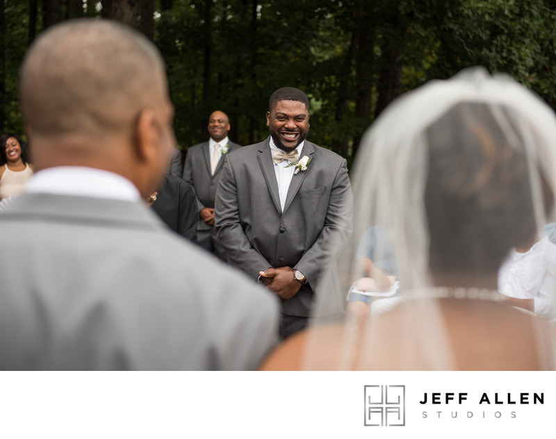 Groom Can Barely Contain Excitement Seeing His Bride