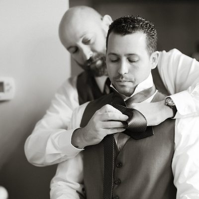 Even the Groom Can Use a Little Help Now and Then
