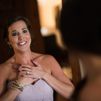 Bridesmaid is Overwhelmed by How Beautiful Bride Looks
