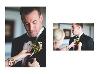 WASHINGTON COURT HOTEL - GROOM GETTING BOUOTONNIERE
