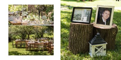 Wedding Album Spread - Brookmill Farm - Table Details