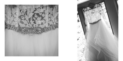 Wedding Album Spread - Brookmill Farm - Dress Details