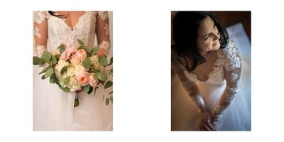Wedding Album Spread - Brookmill Farm - Flowers Portrait