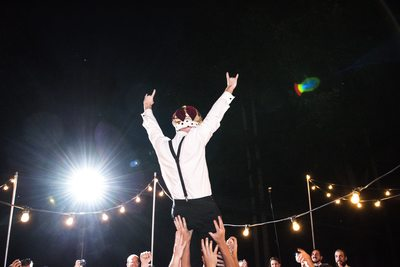 King of the World at His Wedding Day Reception