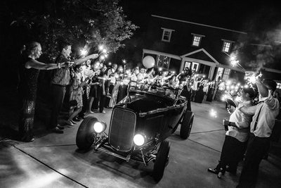 Sparkler Exit Captured by Raleigh Wedding Photographer