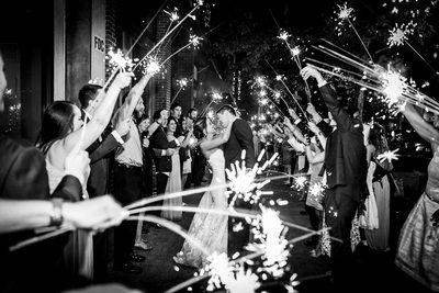 Sparkler Exit Outside the Stockroom at 230 in Raleigh