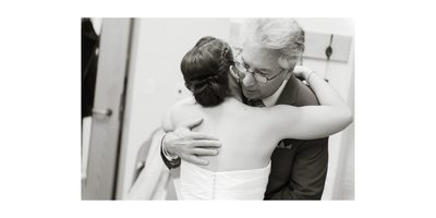 Bride and Her Father Sharing a Private Moment
