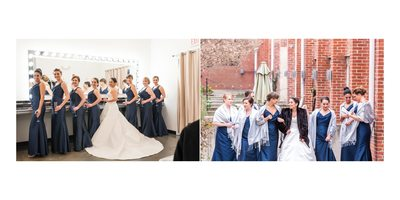 Winter Bridesmaids in Durham - Bride and Her Besties