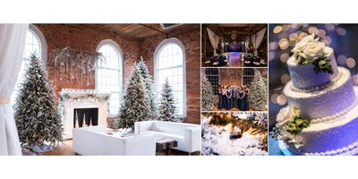 Cotton Mills Winter Wedding Decorations and Details
