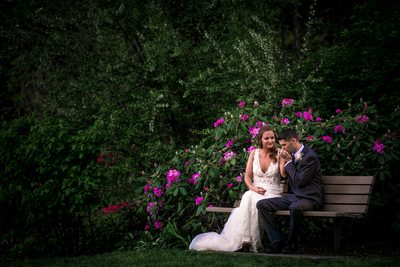 Romantic Greensboro Arboretum Moment for Newlyweds