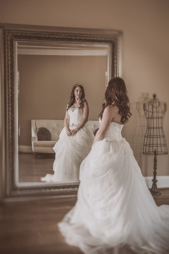 Bridal Portrait at Oaks at Salem Wearing Disney Gown
