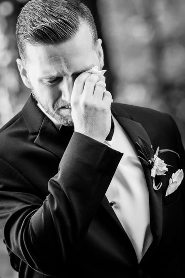 Groom Weeps When He Sees Bride Coming Down the Aisle