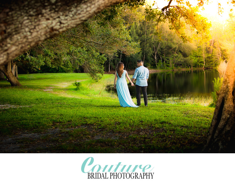 Jessica & Hans Tree Tops Park Engagement Photo Session Davie. FL