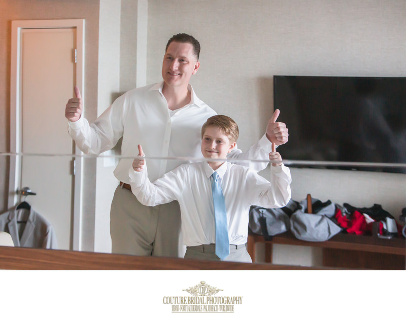 WEDDING DAY PHOTOGRAPHY FATHER AND SON