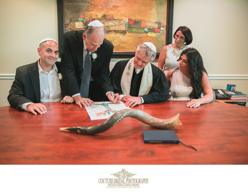 BOCA RATON JEWISH WEDDING KETUBAH SIGNING PHOTOGRAPHER