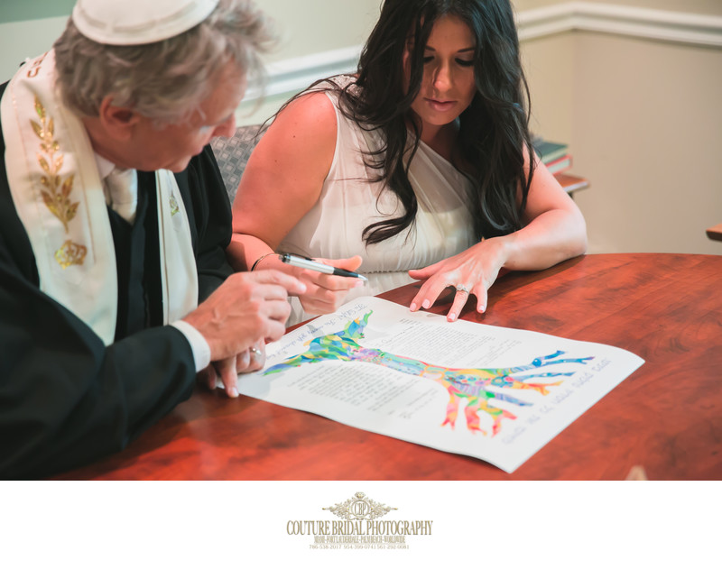 JEWISH WEDDING KETUBAH SIGNING PHOTOGRAPHY