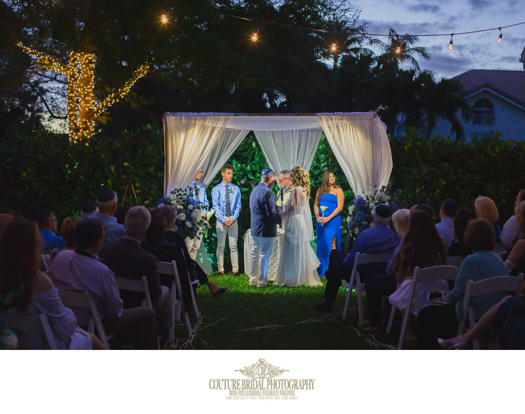 BOCA RATON JEWISH WEDDING PHOTOGRAPHERS