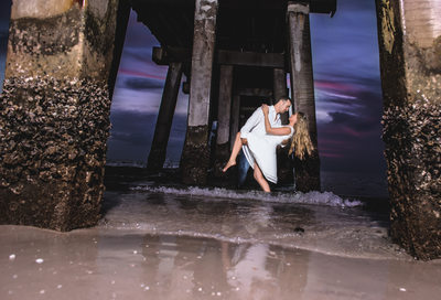 WEDDING PHOTOGRAPHER NAPLES PIER ENGAGEMENT PHOTOGRAPHY