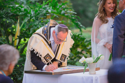 JEWISH WEDDING PHOTOGRAPHER KETUBAH SIGNING