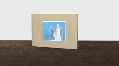 CUSTOMER RENDERING OF DIECUT LEATHER ALBUM WITH IMAGE
