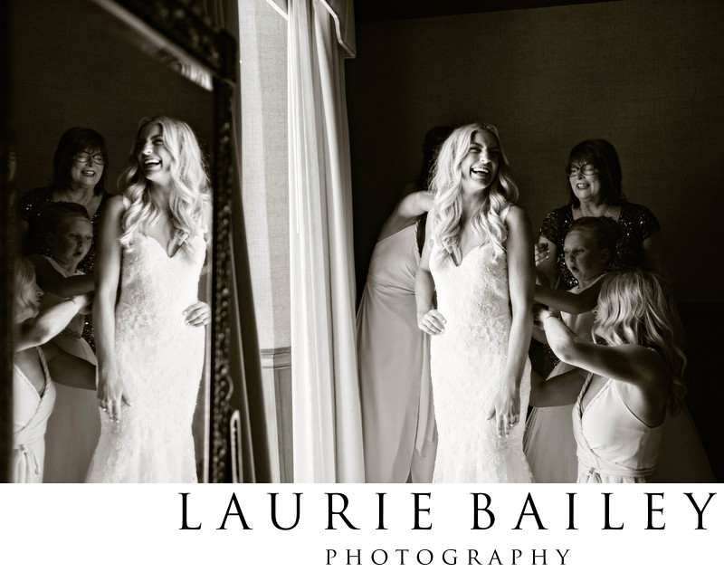 Bel Air Bay Club Wedding Bride Gets Ready