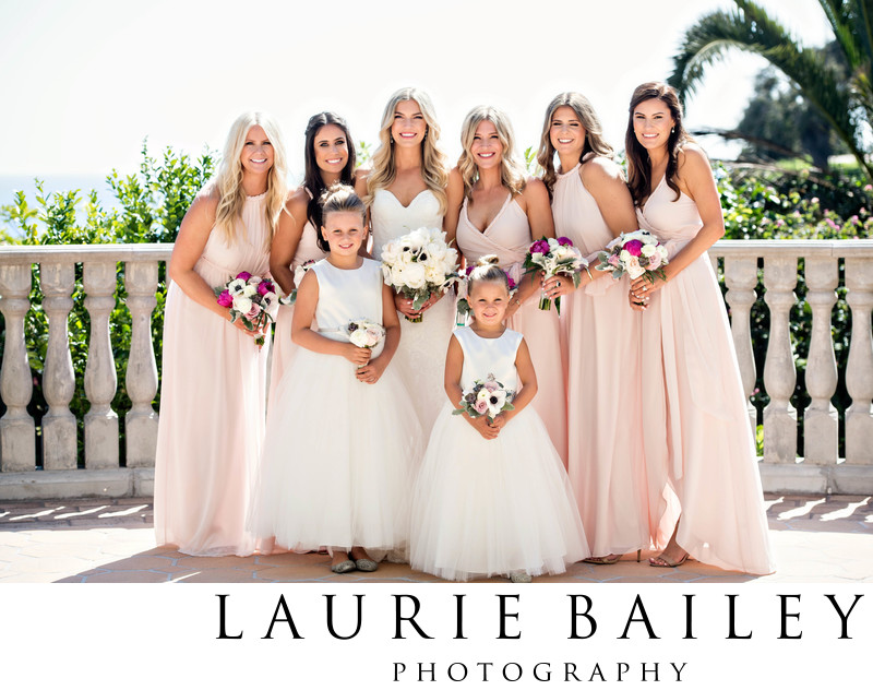 Bel Air Bay Club Wedding Bridal Party Pink