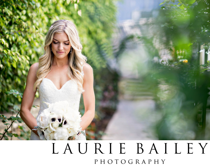 Bel Air Bay Club Bride Portrait Romantic