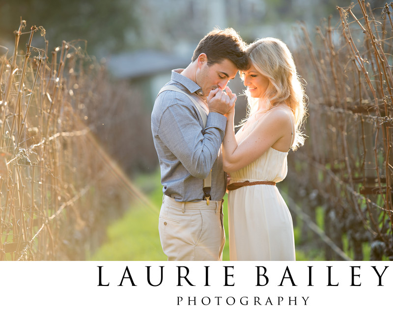 Santa Ynez Engagement Photography Vineyard Location
