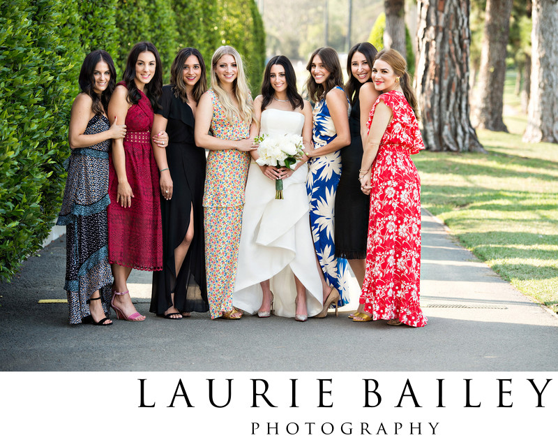 Bride and Bridemaids Los Angeles Country Club