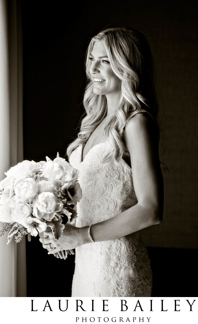 Bel Air Bay Club Wedding Bride Window