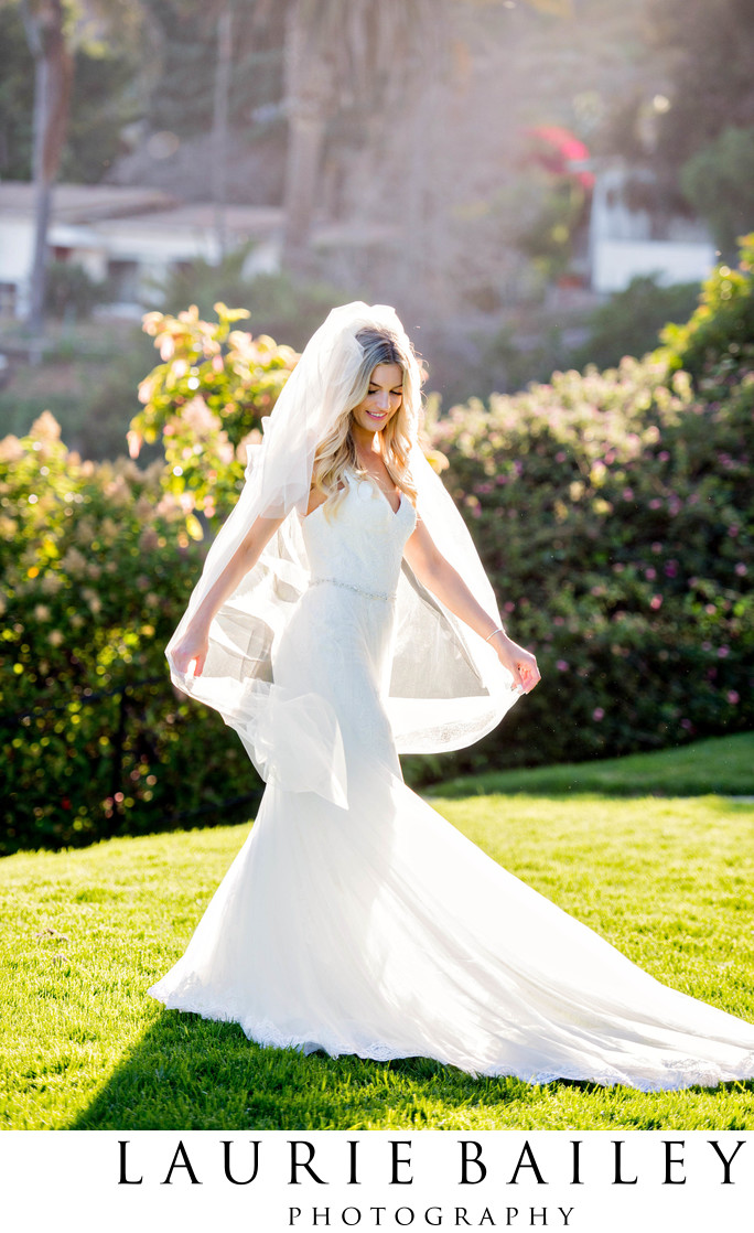 Bel Air Bay Wedding Bride and Veil