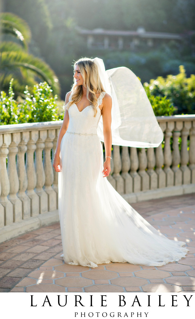 Bel Air Bay Club Bride Veil Wind