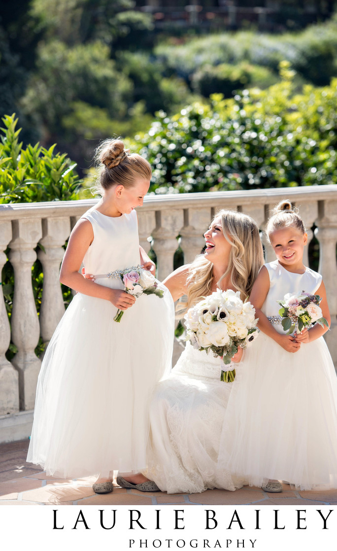 Bel Air Bay Club Bride Flower Girls Portrait