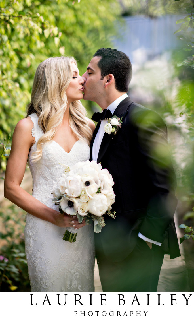 Bel Air Bay Club Wedding Kiss