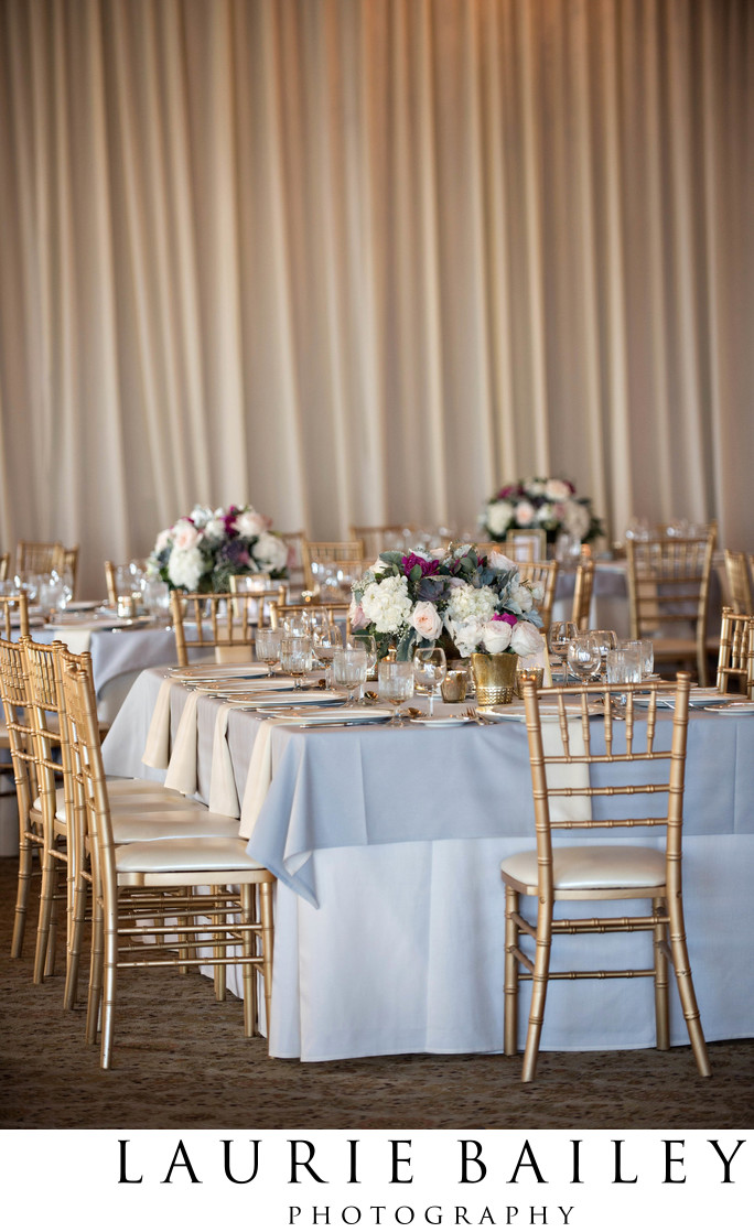 Bel Air Bay Club Reception Decor Gold