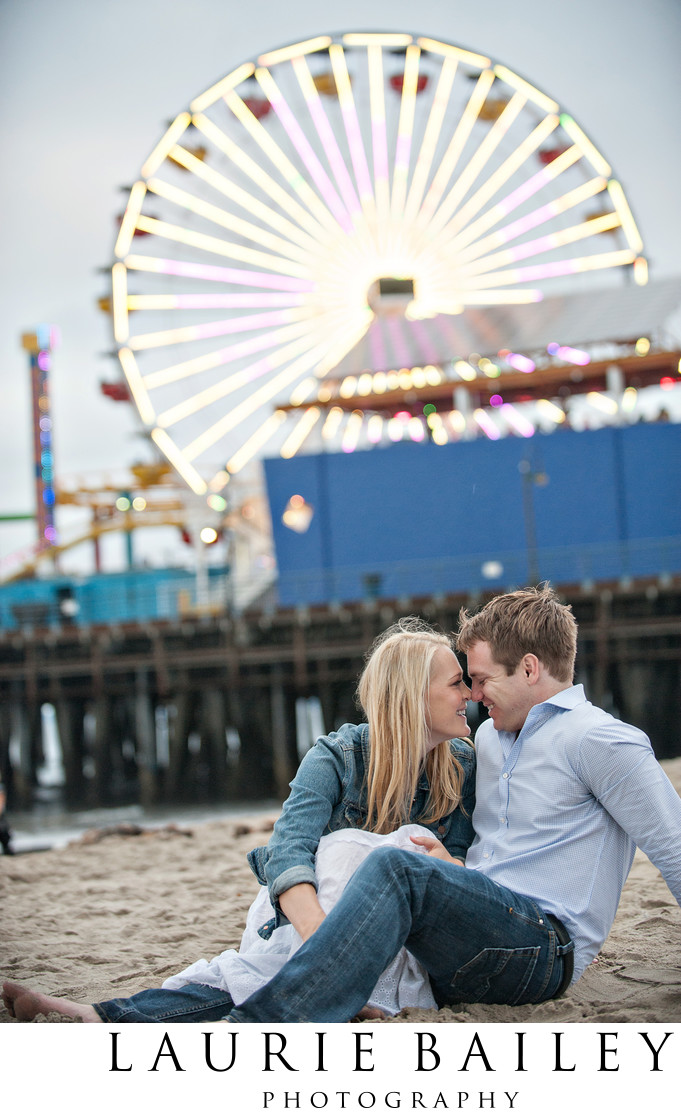 Santa Monica Pier Engagement Photographer