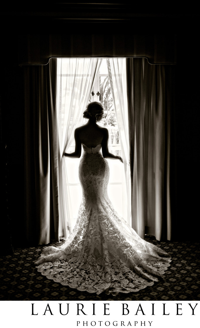Sexy Bridal Portrait at the Bel-Air Bay Club