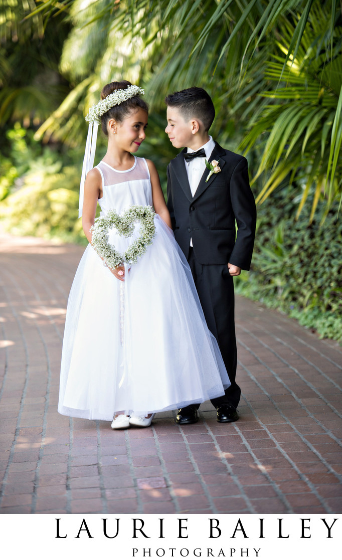Flower Girl and Ring Bearer Santa Barbara Wedding
