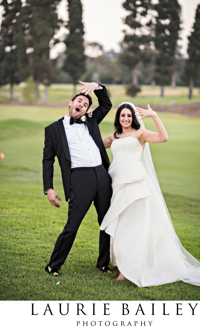 Fun Wedding Photos Brentwood Country Club