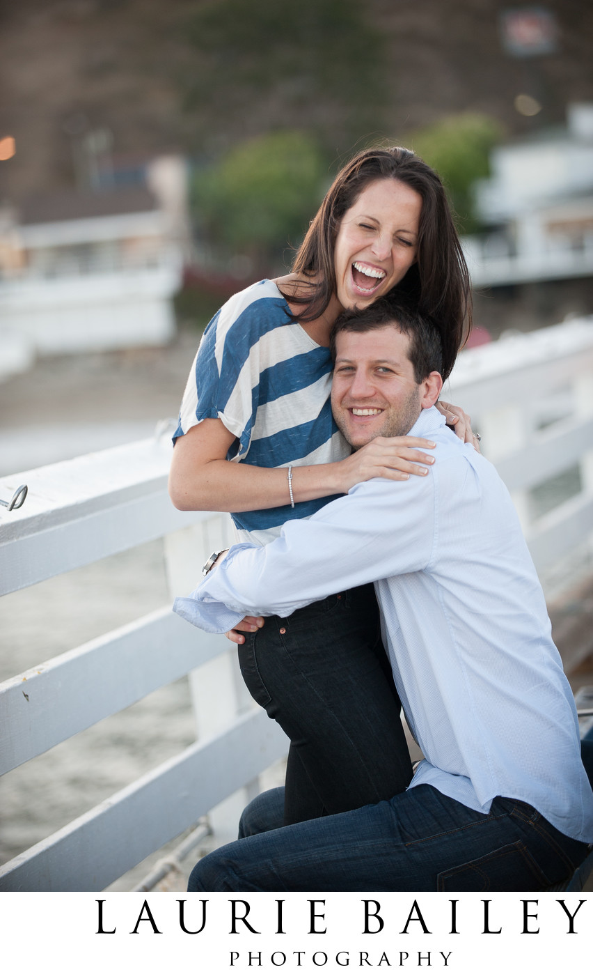 Malibu Beach Engagement Photos